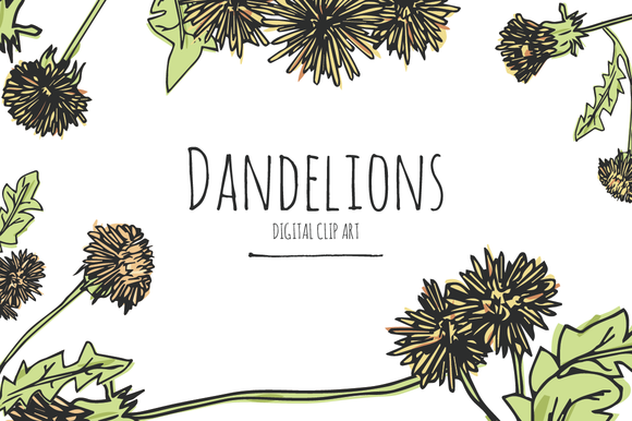 Dandelions Digital Clip Art