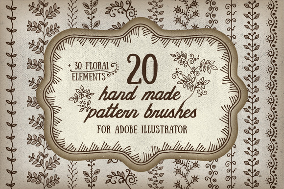 Handmade Pattern Brushes For AI