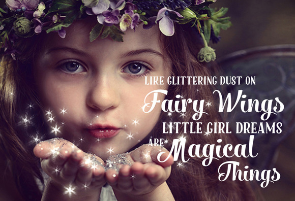 Fairy Quote Photo Word Overlay PSD