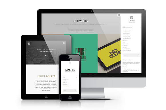 Lolita Portfolio WordPress Theme