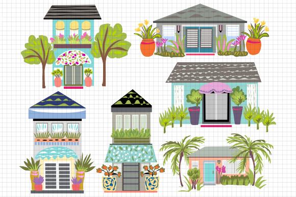 Houses Clip Art 6