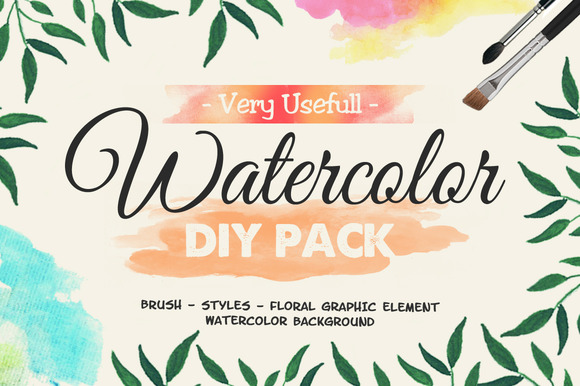 Very Usefull Watercolor DIY Pack