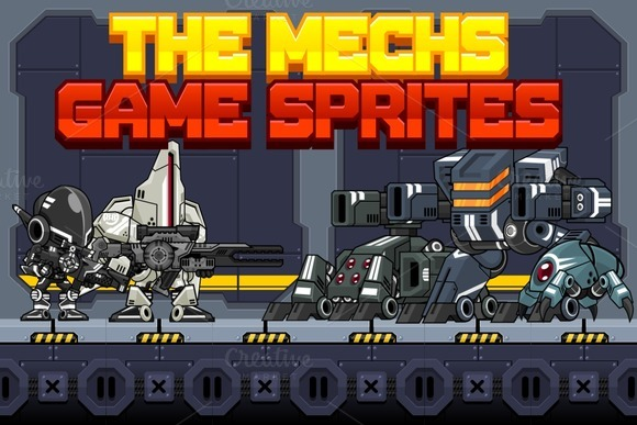 The Mechs Game Sprites