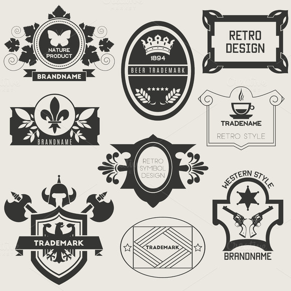 Retro Vintage Insignias Or Logotypes
