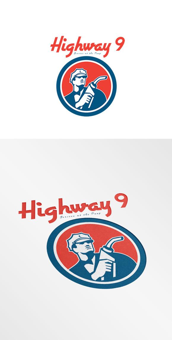 Highway 9 Gasoline Station Logo