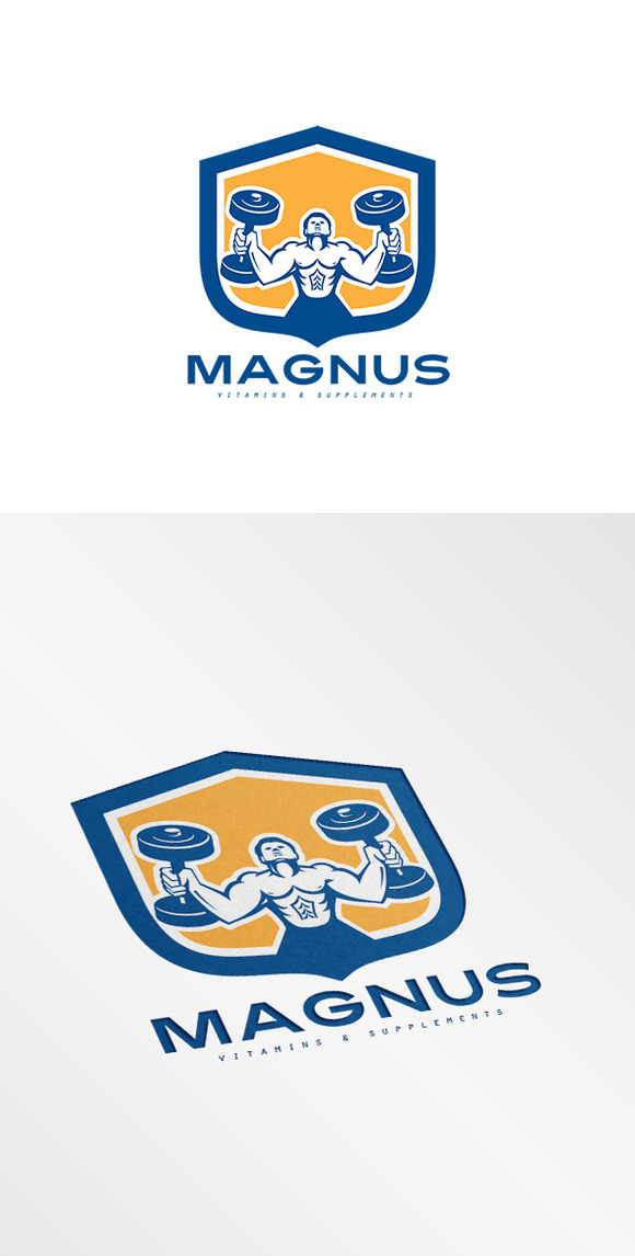 Magnus Vitamins And Supplement Logo