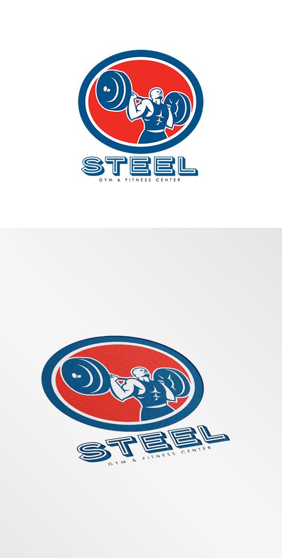 Steel Gym Fitness Center Logo