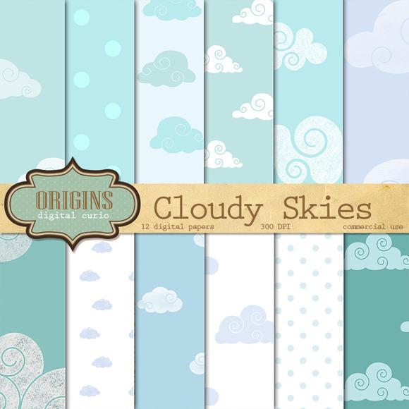 Cloudy Skies Digital Paper