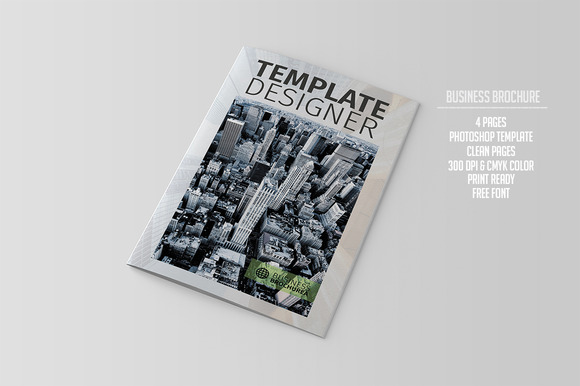 Bifold Corporate Brochure Template
