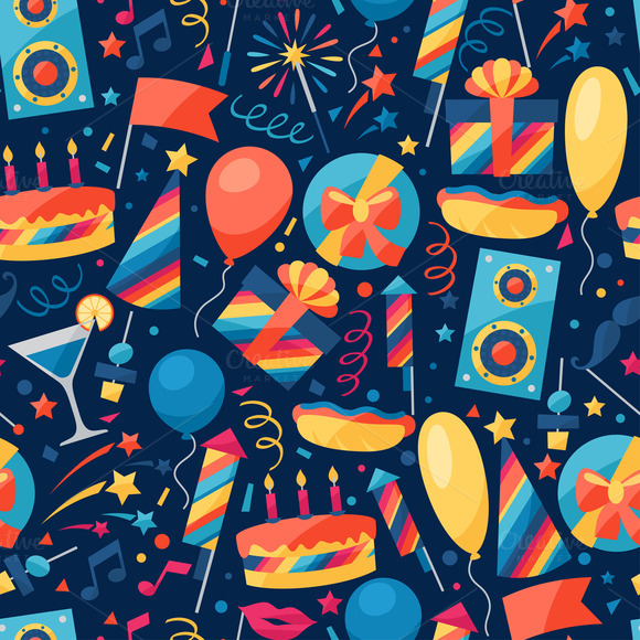 Party Seamless Patterns