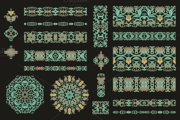 Seamless Ribbons Decorative Elements