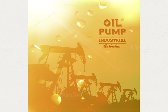 Oil Pump Jack Silhouette Design