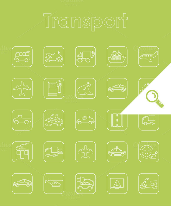 25 TRANSPORT Simple Icons