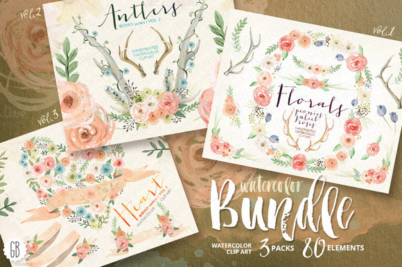 BUNDLE Watercolor Florals