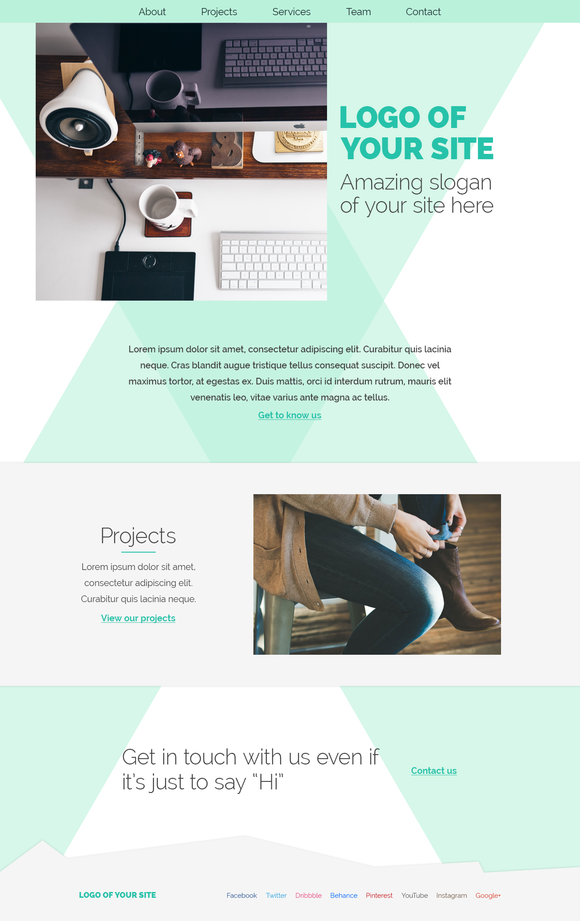 Portfolio Agency Psd Site Template