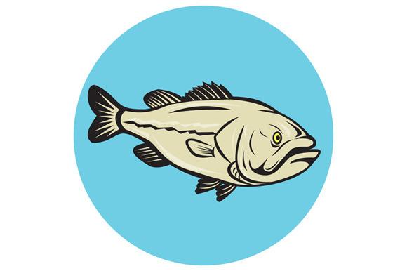 Largemouth Bass Fish Side Circle Car