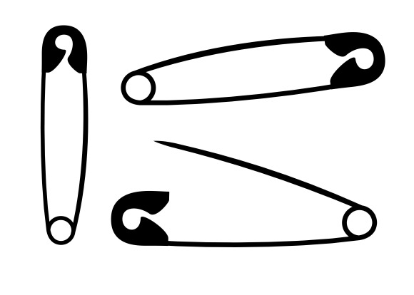 Silhouette Safety Pins