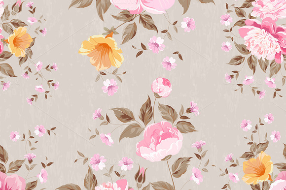 Vitage Fabric Floral Pattern