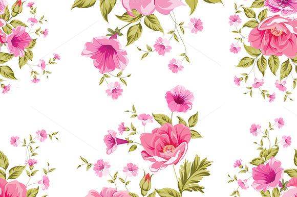 Elegant Seamless Peony Pattern
