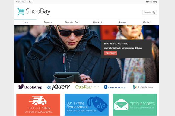 Shopbay Online Shop Template