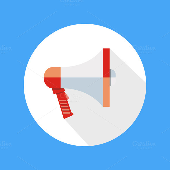 Icon Of Megaphone Speak Concept