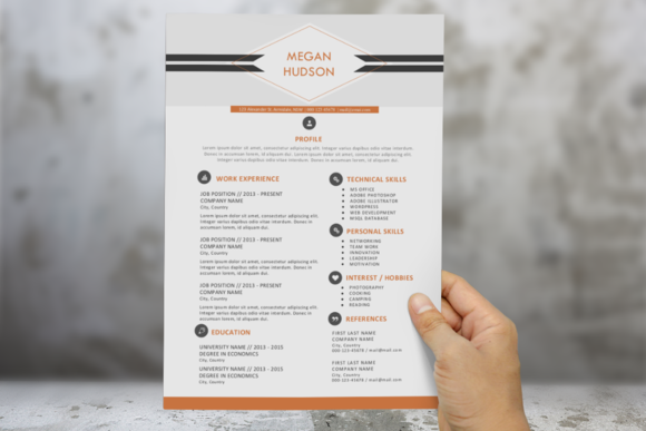 Diamond Modern Resume For Word