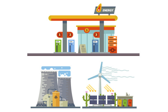 Energy Power And Gas Stations
