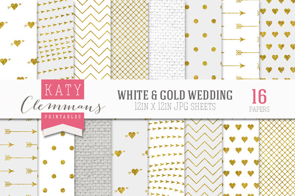 White Gold Wedding Luxe Paper Pack