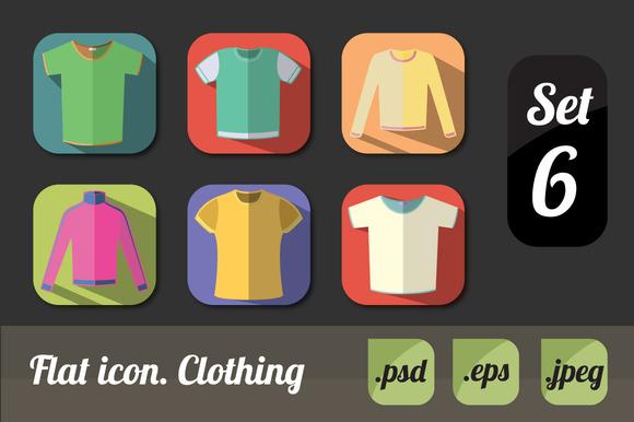 Flat Icon Clothing