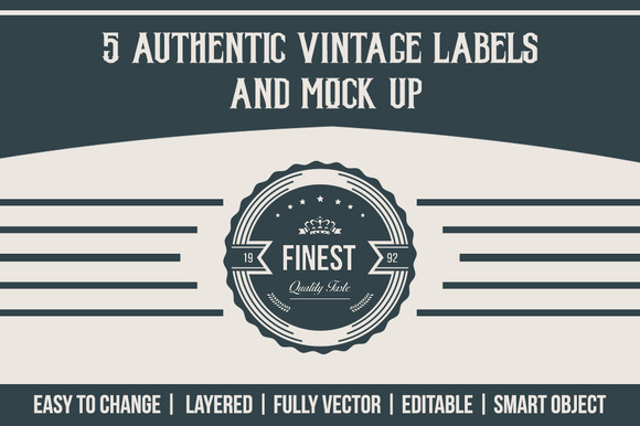 Authentic Vintage Label Mock Up