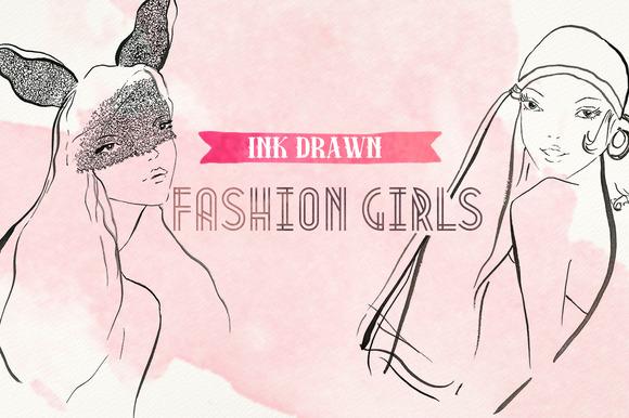 Ink Drawn Fashion Girls