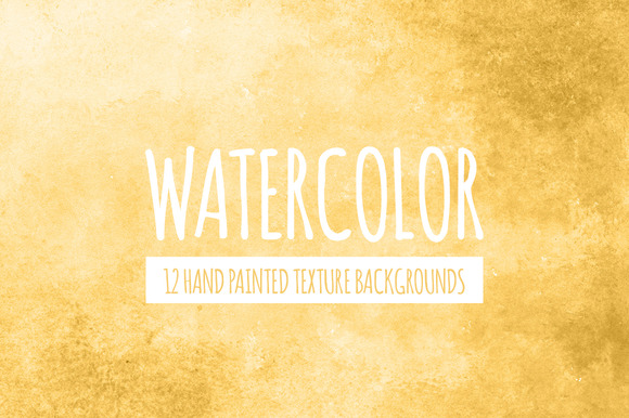 Yellow Gold Watercolor Backgrounds