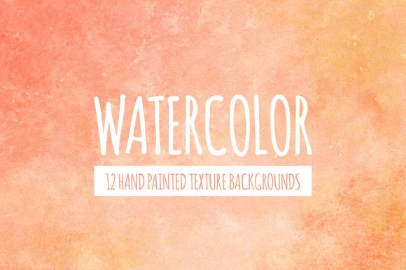 Peach Orange Watercolor Background