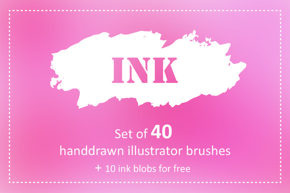 Great Ink Illustrator Brushes Pack