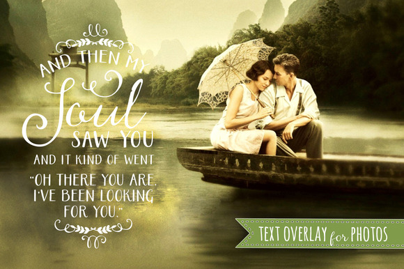 Text Quote Photo Overlay Love Soul