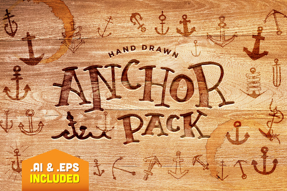 Hand Drawn Anchor Pack
