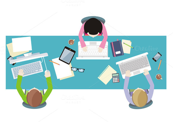 Office Workers On Meeting
