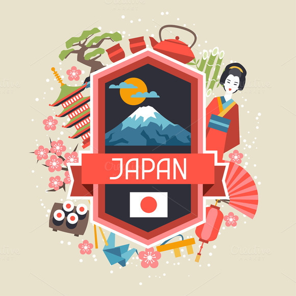 Illustrations On Japanese Theme