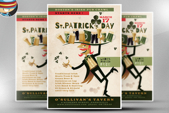 Illustrated St PatrickЎЇs Day Flyer