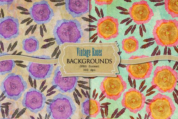 Vintage Roses Backgrounds
