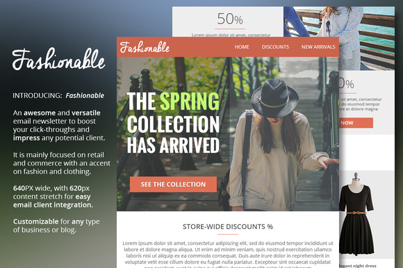 Fashion Clothing Email Newsletter