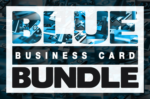 Blue Business Card Bundle