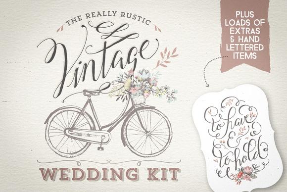 Really Rustic Vintage Wedding Kit