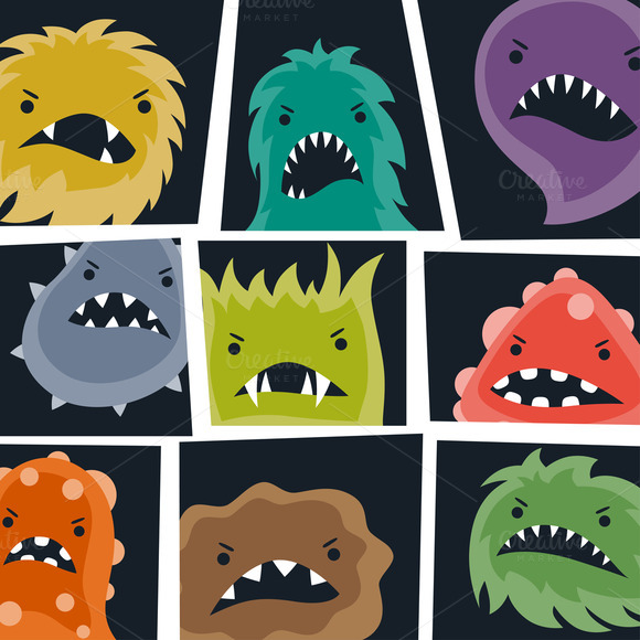 Backgrounds With Angry Viruses