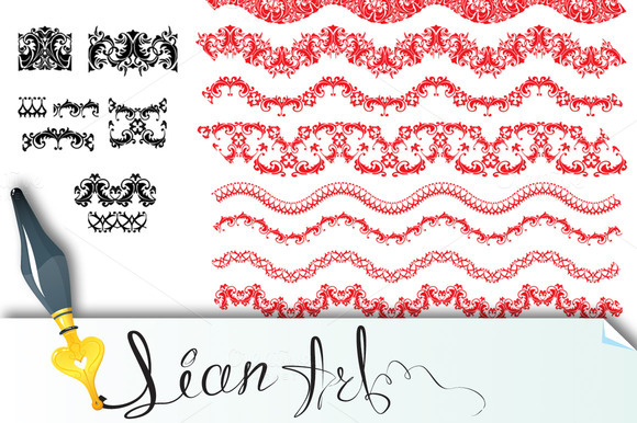 Frame Elements Set Different Lace