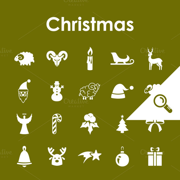 20 CHRISTMAS Simple Icons
