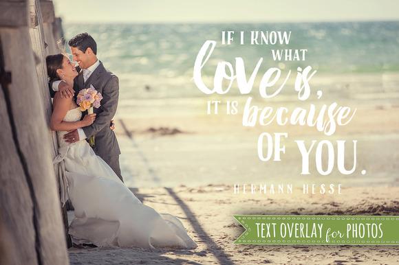 Word Art Quote Love Photo Overlay
