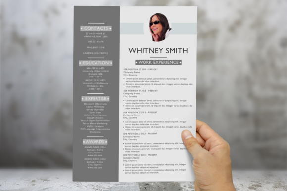 3 In 1 Modern Photo Word Resume