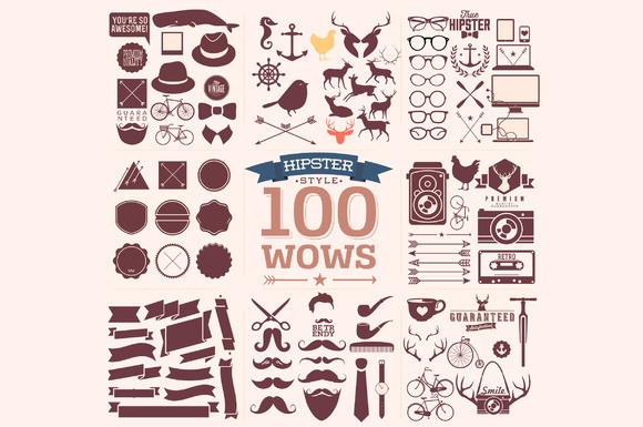 100 Hipster Design Elements