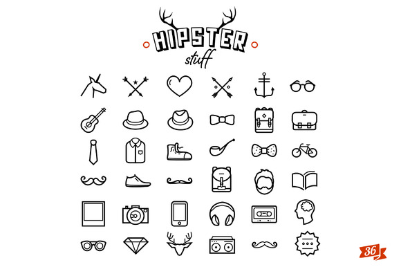 Hipster Icon Design